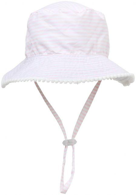 Snapper-Rock---UV-Bucket-Hat-for-kids---Reversible---White/Pink
