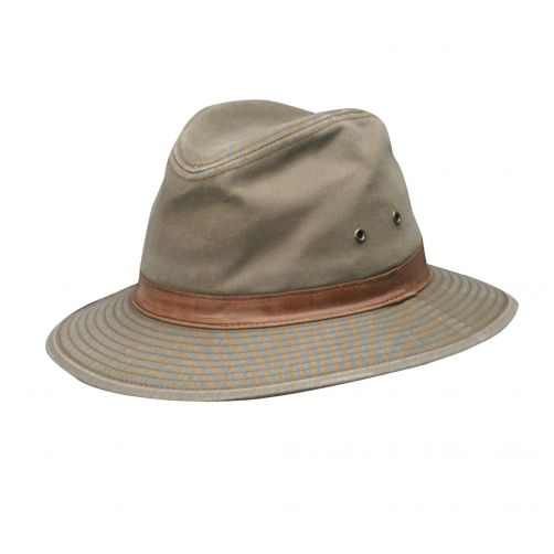 Dorfman-Pacific---UV-safari-hat-for-men---Bark