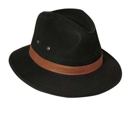 Dorfman-Pacific---UPF-50+-Men's-UV-Hat-Black