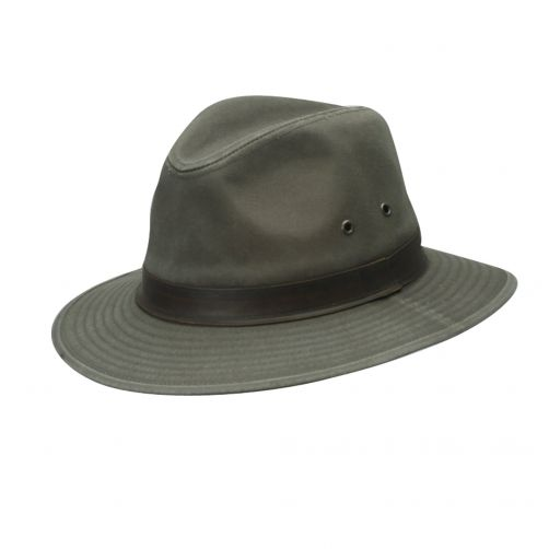Dorfman-Pacific---UV-safari-hat-for-men---Olive