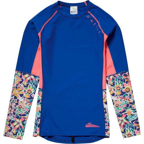 O'Neill---UV-swim-shirt-for-girls---Zuma-Beach-long---Neon-dark-blue