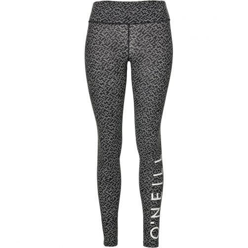 O'Neill---UV-leggings-for-women---Black-AOP-/-white