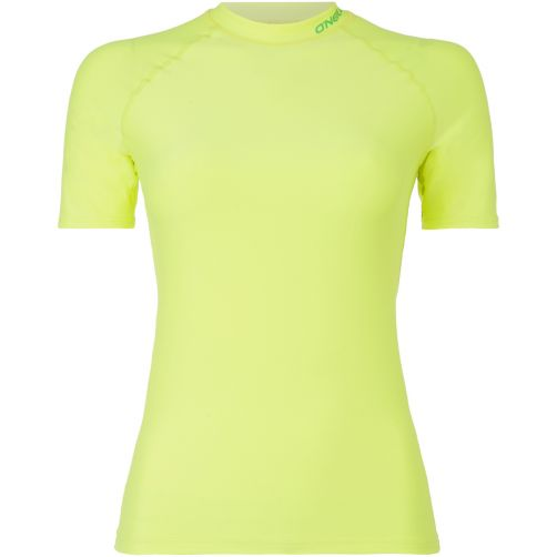 O'Neill---Women's-Short-Sleeve-UV-Shirt---Neon-Yellow