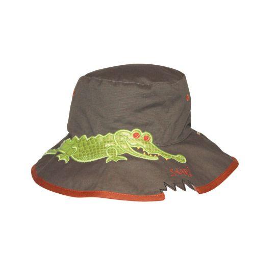 Rigon---UV-bucket-hat-for-children---Khaki-croc