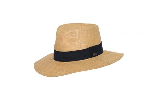Rigon---UV-straw-hat-for-women---Raffia---Natural-/-black
