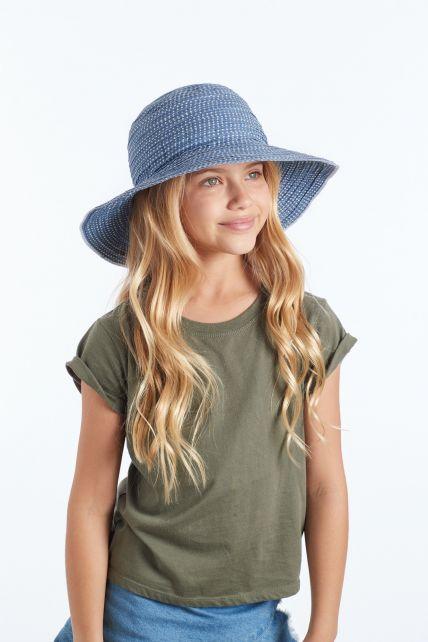 Rigon---UV-Floppy-hat-for-women---Petrol-Blue