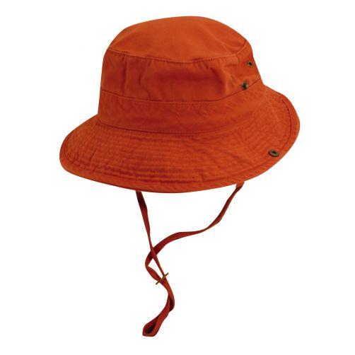 Dorfman-Pacific---UPF-50+-Men's-UV-Hat-Orange/Navy