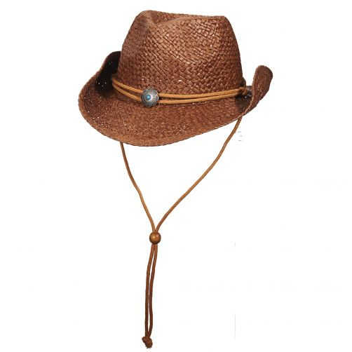 Scala---UV-cowgirl-hat-for-Kids---Brown