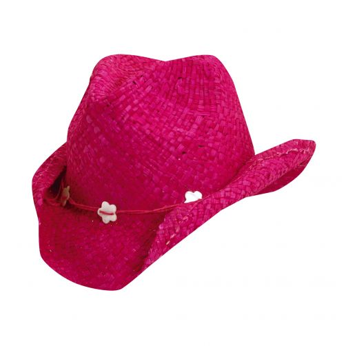 Scala---UV-cowgirl-hat-for-Kids---Fuchsia