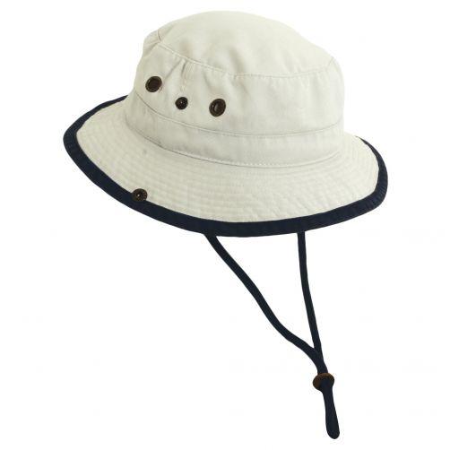 Scala---UV-boonie-hat-for-Kids---Putty-Navy
