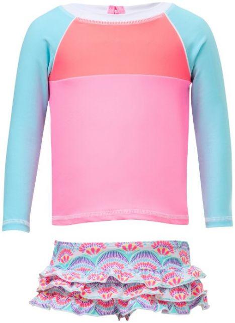 Snapper Rock Neon Pink Long Sleeve Rash Top