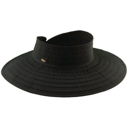Scala---UV-visor-for-women---Black