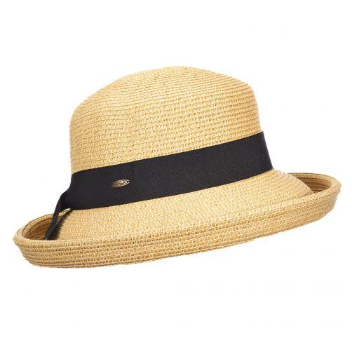 Scala---UV-braided-hat-for-women---Toast