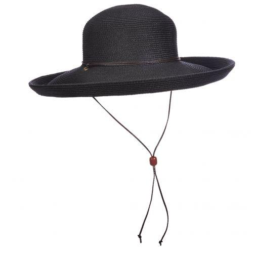 Scala---UV-hat-Whiteh-cord-for-women---Black