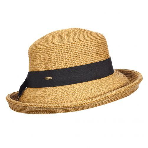 Scala---UV-braided-hat-for-women---Brown