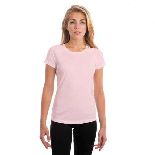 Vapor-Apparel---Women's-UV-shirt-with-short-sleeves---pink-blossom