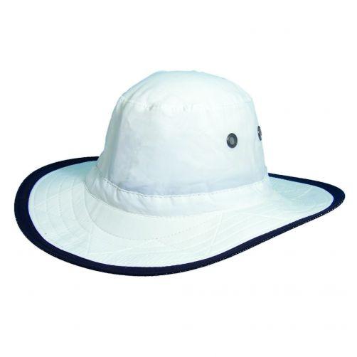 Dorfman-Pacific---UPF-50+-Men's-UV-Hat-White