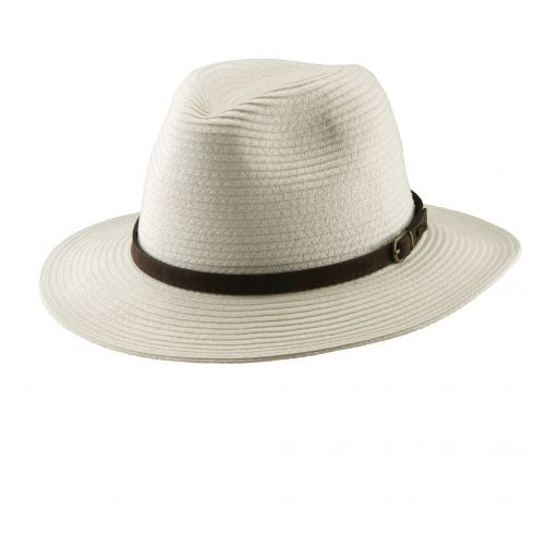 Dorfman-Pacific---UV-hat-safari-braided-for-men---Ivory