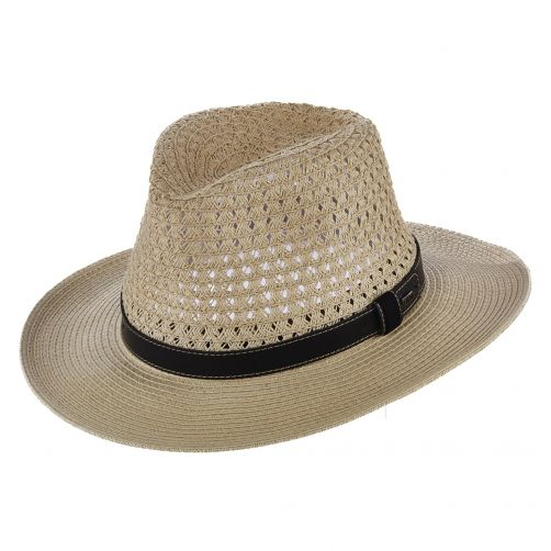 Scala---UV-safari-braided-hat-for-men---Natural