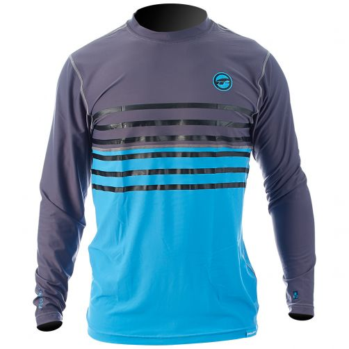 Prolimit---UV-shirt-for-men---Grey-/-Cyan-blue