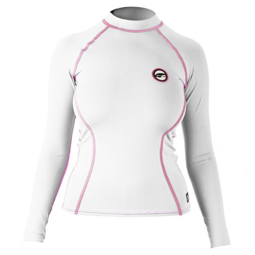 Prolimit---Swim-shirt-for-women-with-long-sleeves---White-/-pink