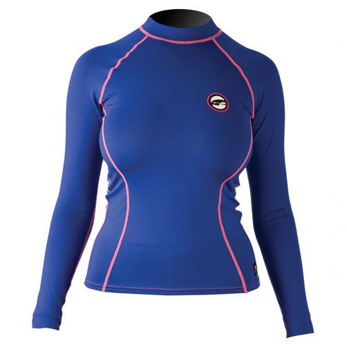 Prolimit---Swim-shirt-for-women-with-long-sleeves---Blue-/-pink
