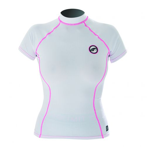 Prolimit---Swim-shirt-for-women-with-short-sleeves---White-/-pink