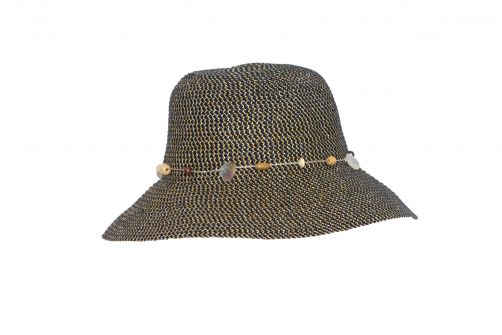 Rigon---UV-bucket-hat-for-women---Navy-blue-fleck