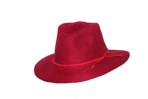Rigon---UV-fedora-hat-for-women---Jacqui---Poppy-red