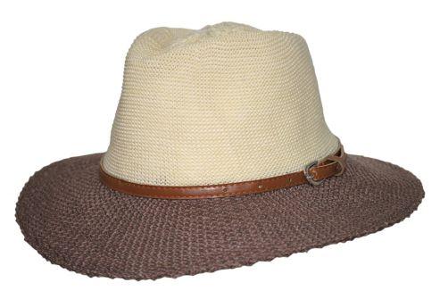 Rigon---UV-sun-hat-for-women-with-belt-trim---Mocha-/-beige