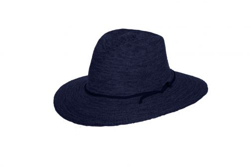 Rigon---UV-fedora-hat-for-women---Jacqui---Mixed-navy-blue