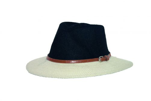 Rigon---UV-sun-hat-for-women-with-belt-trim---Black