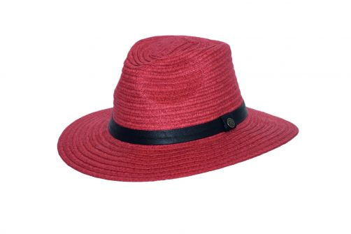 Rigon---UV-fedora-hat-for-women---Masala-red