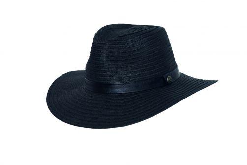 Rigon---UV-fedora-hat-for-women---Black