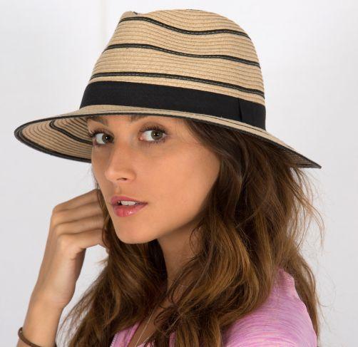 Rigon---UV-straw-hat-for-women---Maria---Natural-/-black