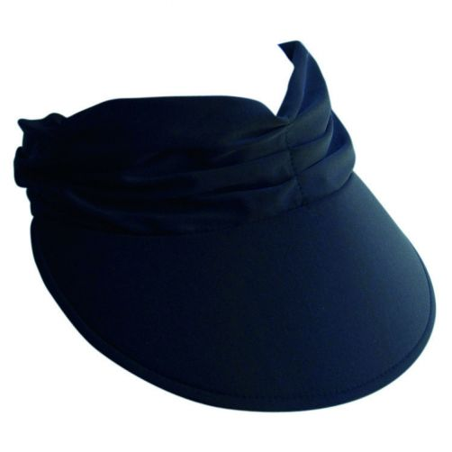 Rigon---Visor-for-women-with-pleated-fabric---Calypso---Black