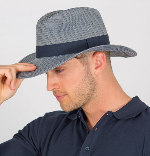 Rigon---UV-fedora-hat-for-men---Denim-blue