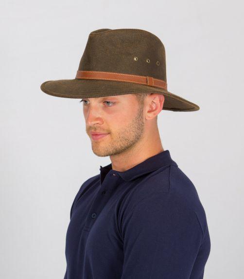 Rigon---UV-fedora-hat-for-men---Oliver---Vintage-brown