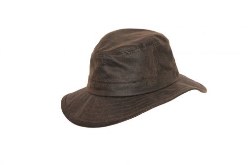 Rigon---Bucket-hat-for-men---Suedette---Vintage-brown