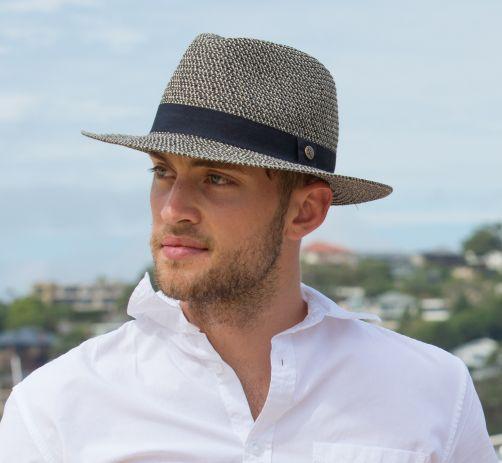 Rigon---UV-fedora-hat-for-men---The-Franky---Black