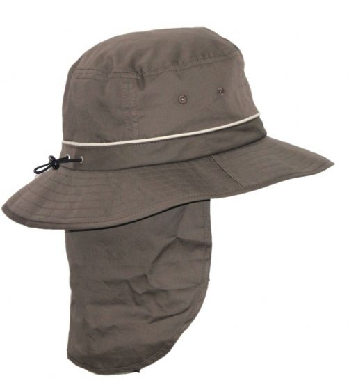 Rigon---UV-Bucket-hat-for-men-with-neck-flap---Khaki